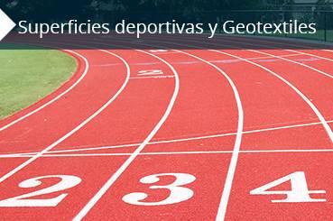 superficies deportivas y geotextiles