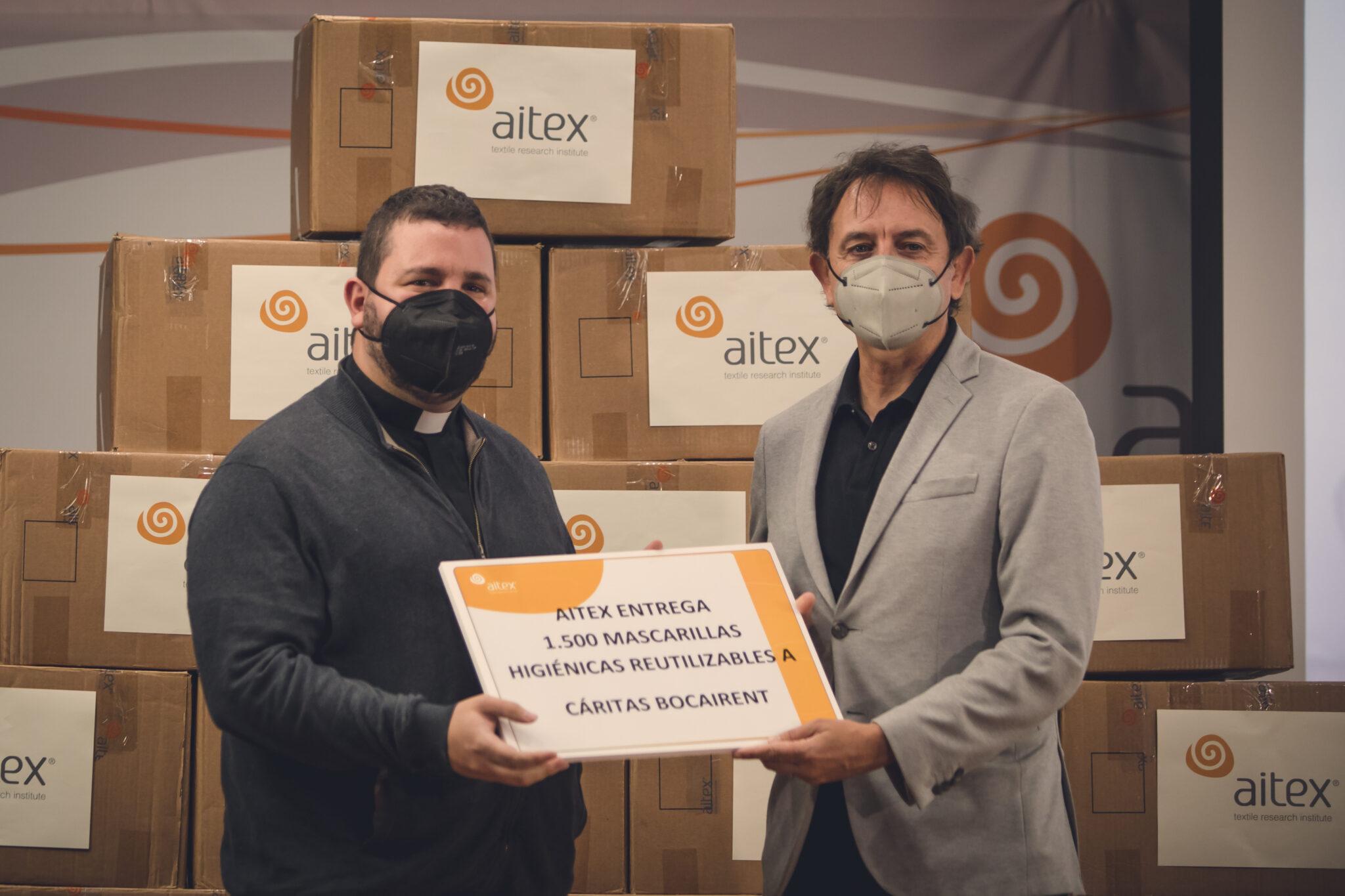 Donación mascarillas AITEX1