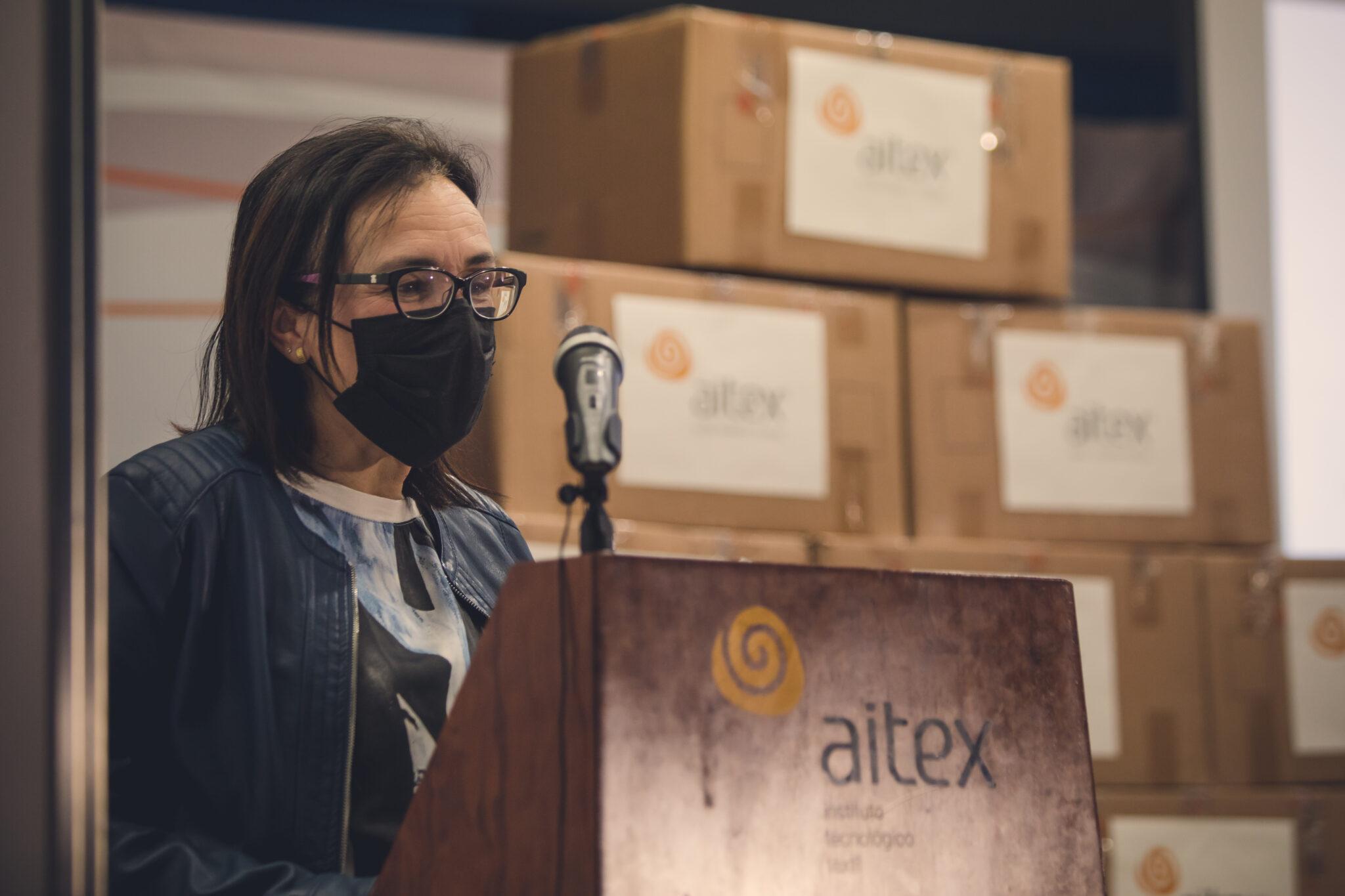 Donación mascarillas AITEX