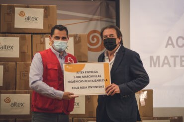 AITEX otorga mascarillas a Cruz Roja
